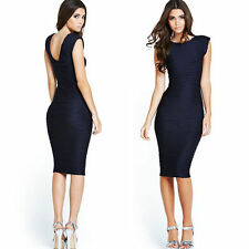 Womens Elegant Party Wear To Work Business Cocktail Bodycon Slim Pencil Dresses