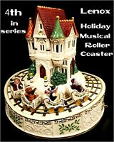 LENOX FOR THE HOLIDAY'S CHRISTMAS MUSICAL ROLLER COASTER W/ORIGINAL BOX