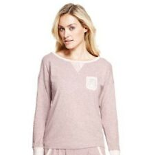 LADIES WOMAN MARKS AND SPENCER LONG SLEEVE COTTON TOP BLOUSE NIGHTWEAR SIZE 8-22