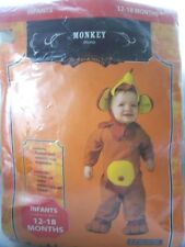 Infants Monkey Halloween Costume Size 12 - 18 Months
