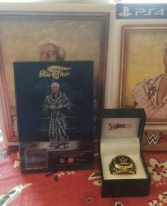 WWE 2K19 Wooooo! Collectors Edition Ric Flair Robe Plaque & Replica HOF Ring