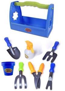 Little Gardening Sand Tool Box Set Mini Garden Tools Kit for Kids Pretend Play