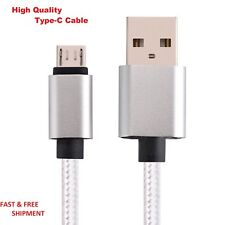5FT USB-C Cable Type C 3.1 to A -Nylon Braided 2A Charging Data  S8 LG G6 Pixel