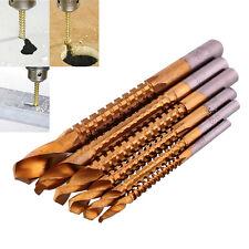 New 6Pc Titanium HSS Drill & Saw Bit Slot Cutting Carpenter Wood 3-8mm