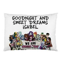 MONSTER HIGH Personalized childrens kids bed pillow case