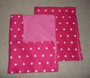 "Lot 2 Target HOME Pink & White Polka Dot pillow shams 24""X30"" covers Set"