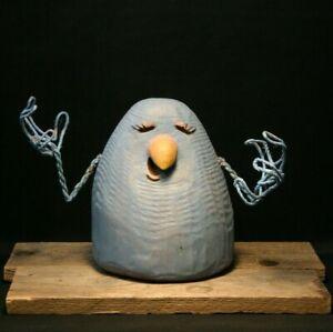 Whimsical Little Singing Bird, Farm Animals, Chainsaw Carving, Wood Art, SHRUM