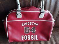 Fossil 54 Kingston Handtasche Tasche Bowling Bag Damen *Rot*