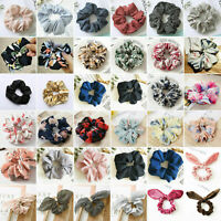 Women Girls Scrunchies Hair Ties Ponytail Bun Holder Stretch Elastic Rubber Band