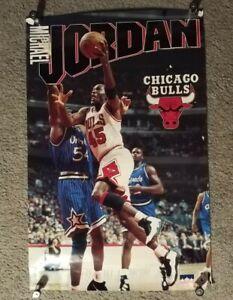 "Michael Jordan 1995 Starline Poster Chicago Bulls #45 Shaq H. Grant 22""x34"""