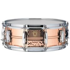Ludwig USA LC660K Copper Phonic 5x14 Hammered Shell Snare Drum w/ Imperial Lugs