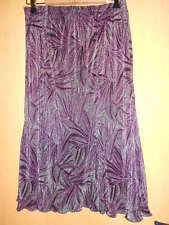 jupe Atelier Création satiné gris/violet  imprimé en relief très original  42