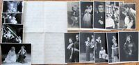 Germany 1940 Theatre Realphoto 14 Postcards & Letter-Actor & Actress, Theatrical