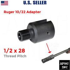 """Ruger 1022 10/22 Thread Muzzle Barrel Adapter 1/2-28 1/2""""x28"""