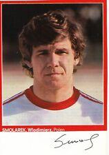 Wlodzimierz Smolarek † 2012 Polen WM 1982 Fußball Karte original signiert 395524
