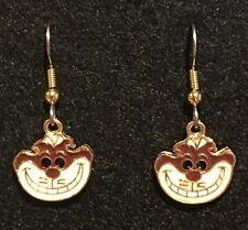 CHESHIRE CAT Earrings Disney Alice in Wonderland Surgical New We're All Mad (C)