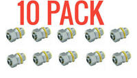 "10 PACK Hubbell-Raco 3512-8 1/2"" Straight Liquidtight Fitting / 739"