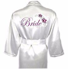 Personalised Flower Satin Wedding Robe / Dressing Gown - Bridal Children's sizes