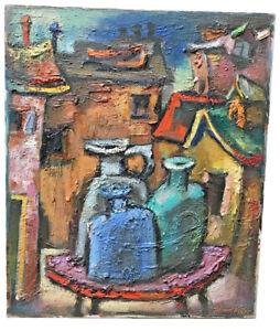 SAMUEL HELLER (AMERICAN, 1902-1997) ABSTRACT STILL LIFE