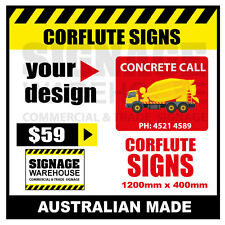Custom Corflute Sign - Corflute 1200mm x 400mm - by Signage Warehouse