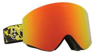 Electric Unisex EGX Snowboard Ski Goggles - Red Yellow Splatter/Red Chrome Lens