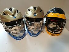 New listing 3 Cascade Cpx-R Gold Lacrosse Lax Helmet W/Adjustable Seven Liner & Chinstrap