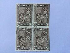 Malaya Malaysia 1957 Perak 10c Block 4