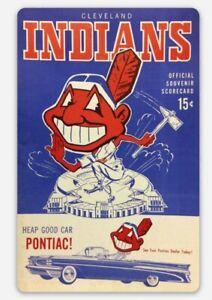 Chief Wahoo Magnet Vintage Cleveland Indians Custom Vinyl MLB Tribute Pontiac