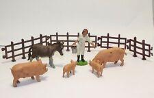Britains vintage Farm Toys Pigs / farmer / Horse 1971