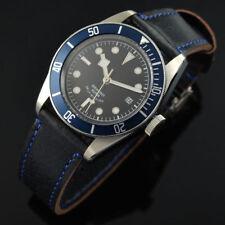 41mm Corgeut Black dial blue bezel Luminous Sapphire Glass Automatic Mens Watch