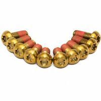 10x Ducati 1299S Panigale S Gold Titanium Front Disc Rotor Bolts Threadlock