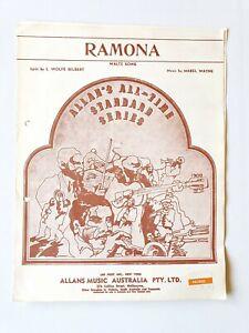 Allan's All-Time Standard Series - Ramona - Sheet Music
