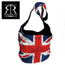 Robin Ruth Designer Shoulder Bag  Union Jack UK GB Flag Sling Crossbody Handbag