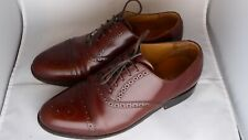 Gents Barker shoes, Alfred size G 7, wood brown cobbler, good condition with box