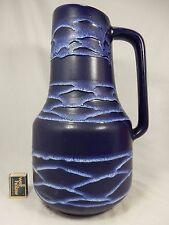 Beautiful 70´s design Scheurich Keramik Blue & White VASO lava 408 - 40