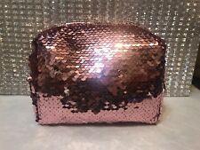 Birchbox Two Tone Pink & Silver Make Up Bag New