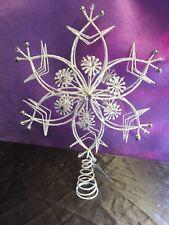 Gisela Graham White Christmas Star Tree Topper Feature 30cm Christmas Star -267