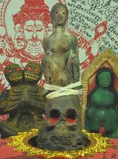 Statue Naang Phim PakDaeng on skull desire call sex love Thai Woman ghost amulet