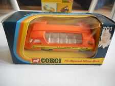 Corgi High Speed Mini Bus in Orange in Box (Corgi nr: 701)