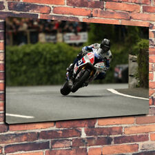 "Guy Martin Isle Of Man TT Printed Wall Art Canvas Picture A1.30""x20"" 30mm Deep"