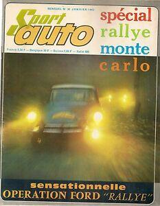 SPORT AUTO 36 1965 CRIT CEVENNES CONRERO FIAT ABARTH 1000 & 1600 OT TRIUMPH 2000