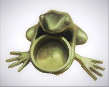 Frog Shape Handmade Brass Temple Oil Wick Lamp Candle Holder Incense Cone Burner