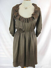 Stunning Sz 10 Jayson Brunsden Bronze Ruffle Dress Designer