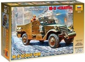 Zvezda 3519 1/35 M-3 Armored Scout Car Plastic Model Kit