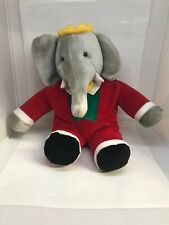 "Vintage 1988 Gund Babar Elephant 13"" Plush Stuffed Animal"