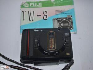 Fuji TW-3 Kompaktkamera 18x24mm Halbformat Objektiv Tele+Wide (rare) Vintage