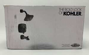 KOHLER Rubicon 1-Handle 3-Spray Tub and Shower Faucet in Matte Black