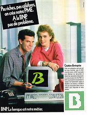 PUBLICITE ADVERTISING 045  1986  BNP  banque CREATION D'ENTREPRISES