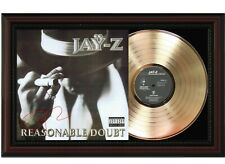 """Jay Z Framed Cherry wood Reproduction Signature LP Display. """"M4"""""""