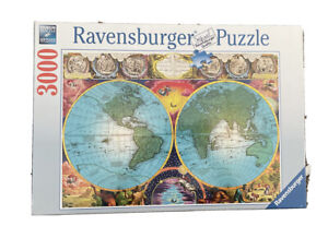 RAVENSBURGER ANTIQUE MAP 3000 PIECE JIGSAW PUZZLE New Sealed Made In Germany